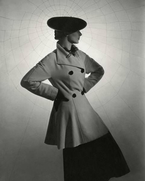 Celebrities Photograph - Agneta Fischer Wears Lanvin by Horst P. Horst