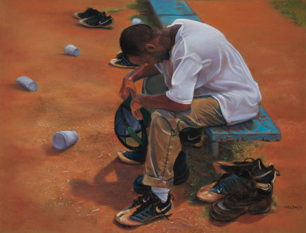 Painting - Agony Of Defeat by Christopher Reid
