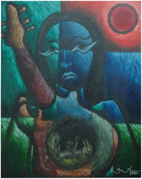 Kannan Painting - Agony by Sooraj Kannan