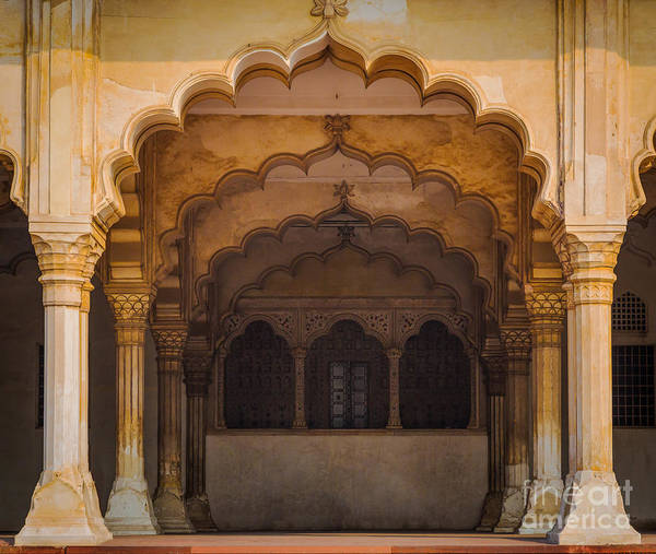 Wall Art - Photograph - Agra Fort Arches by Inge Johnsson