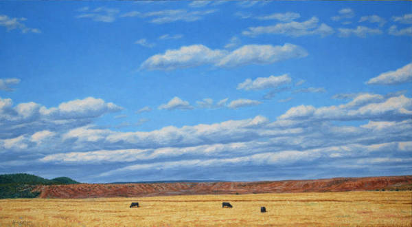Ranching Painting - Grazing by James W Johnson