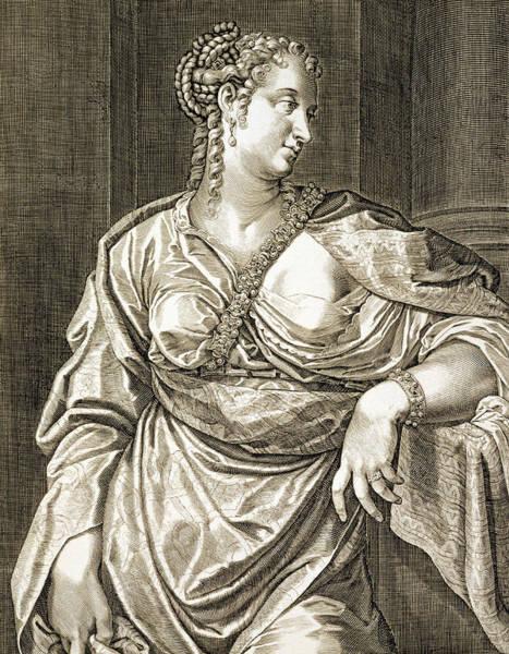 Poetry Drawing - Agrippina Wife Of Tiberius by Aegidius Sadeler or Saedeler