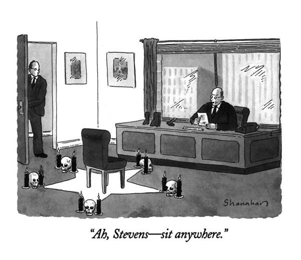 Black Magic Drawing - Ah, Stevens - Sit Anywhere by Danny Shanahan