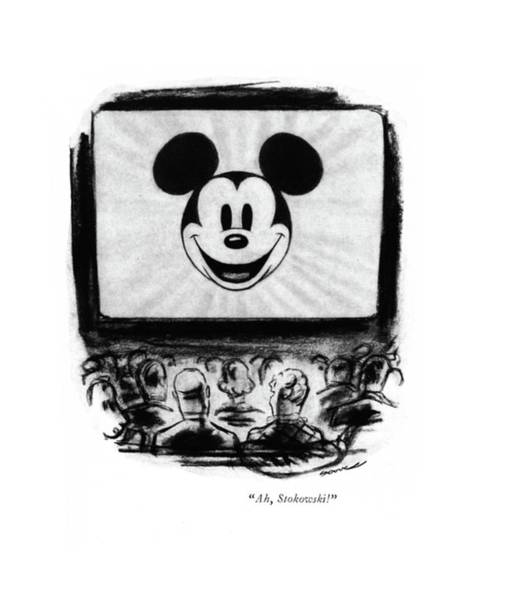 Disney Drawing - Ah, Stokowski! by Leonard Dove