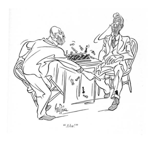 Senior Drawing - Aha! by George Price
