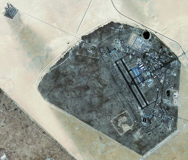 Airbase Photograph - Ahmed Al Jaber Airbase by Geoeye/science Photo Library