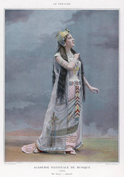 Wall Art - Photograph - Aida  Mlle Soyer As Amneris In A by Mary Evans Picture Library