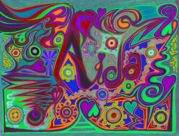 Soothing Drawing - Aida V5 by Kenneth James