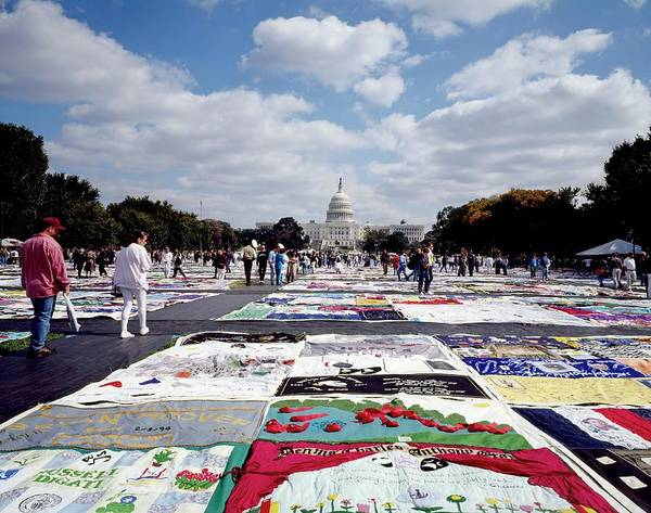 Lgbt Photograph - Aids Quilt by Carol M. Highsmith Archive, Library Of Congress