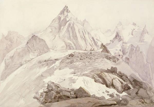 Mont Blanc Wall Art - Painting - Aiguilles De Chamonix by John Ruskin