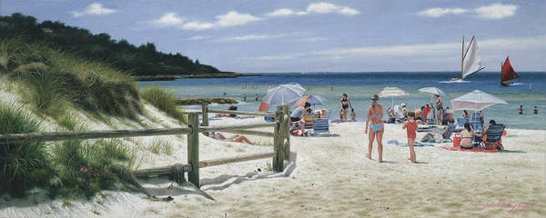 Cape Cod Painting - Ain't Life Grand - Old Silver Beach by Julia O'Malley-Keyes
