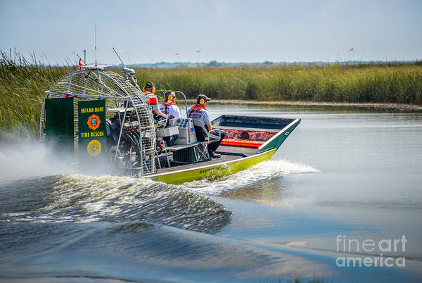 Airboat Photograph - Air Boat by Scott Mullin