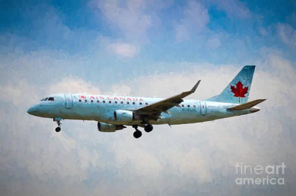 Photograph - Air Canada Plane by Les Palenik