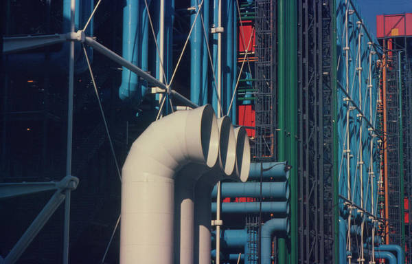 Wall Art - Photograph - Air Conditioning Pipes On Pompidou Centre  by Alex Bartel/science Photo Library