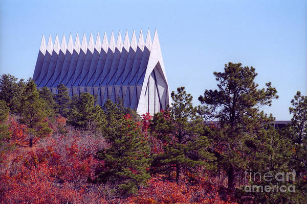 Photograph - Air Force Academy Chapel In Autumn by Teri Brown