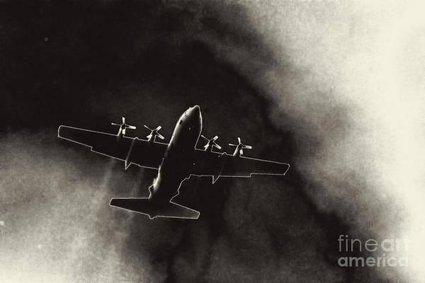Photograph - Air Force C-130 by Jim Lepard