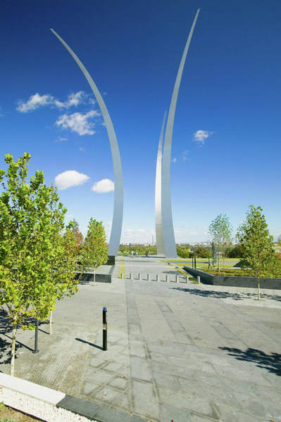 Southern Pride Wall Art - Photograph - Air Force Memorial With Three Soaring by Panoramic Images