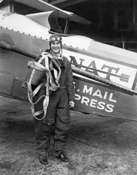 Photograph - Air Mail Pilot Speed Record by Underwood Archives
