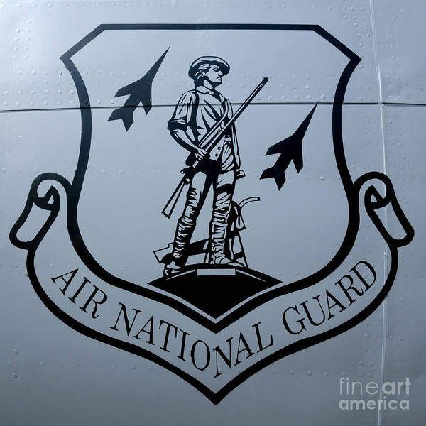 National Guard Photograph - Air National Guard Shield by Olivier Le Queinec
