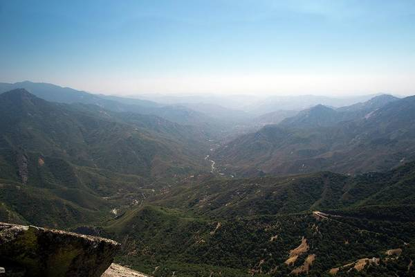San Joaquin Valley Photograph - Air Pollution Over Sequoia National Park by Jim West