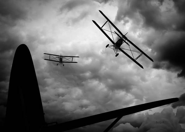 Vintage Airplane Photograph - Air Pursuit by Bob Orsillo