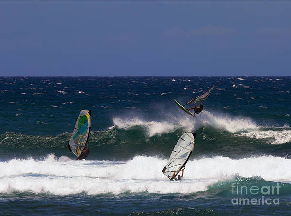 Windsurfing Photograph - Air Time by Mike  Dawson