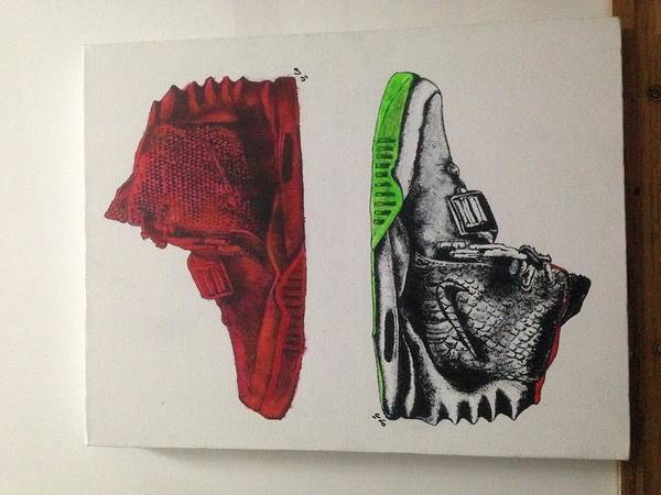 Wall Art - Painting - Air Yeezy by Malaya Breed