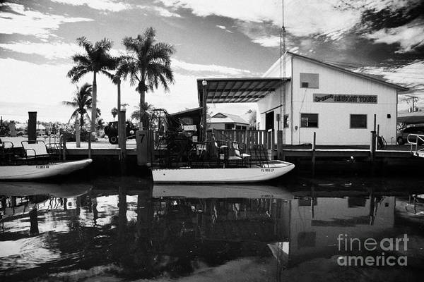 Airboat Photograph - Airboat Rides In Everglades City Florida Everglades by Joe Fox