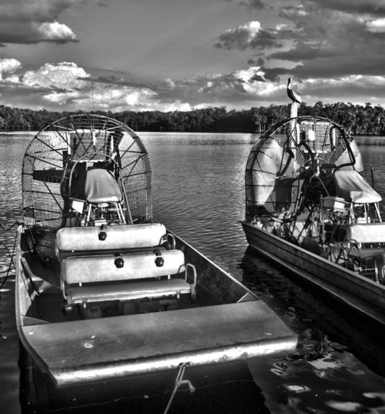Airboat Photograph - Airboats by Timothy Lowry