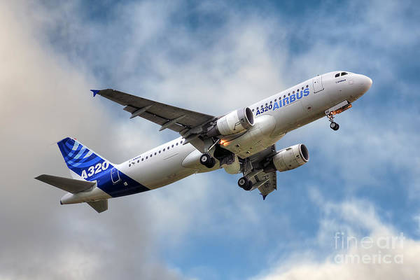 Wall Art - Photograph - Airbus A320 by Steve H Clark Photography