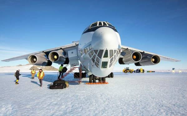 Antarctica Photograph - Aircraft At Runway In Antarctica by Peter J. Raymond