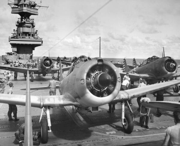 Photograph - Aircraft Carrier, 1942 by Granger