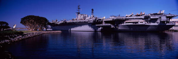 Midway Photograph - Aircraft Carriers At A Museum, San by Panoramic Images