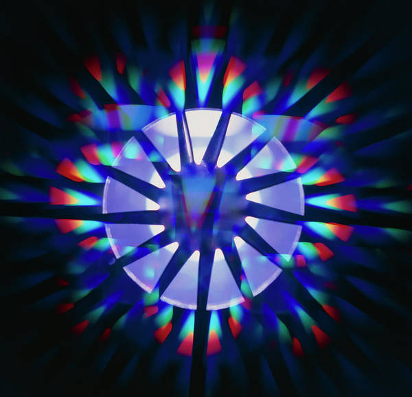 Wall Art - Photograph - Aircraft Component: Diffraction-filtered Photo by Ben Johnson/science Photo Library.