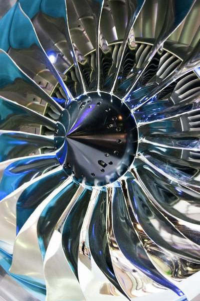 Compressor Photograph - Aircraft Engine Fan by Mark Williamson/science Photo Library