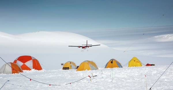 Antarctica Photograph - Aircraft Landing by Peter J. Raymond