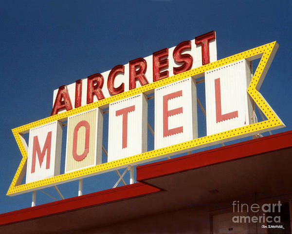 Seattle Digital Art - Aircrest Motel  by Jim Zahniser