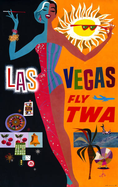 Wall Art - Drawing - Airline Poster, C1962 by Granger