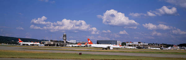 Wall Art - Photograph - Airplane Taking Off, Zurich Airport by Panoramic Images