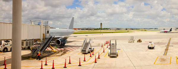 Trailer Photograph - Airport, Fort Lauderdale, Florida, Usa by Panoramic Images