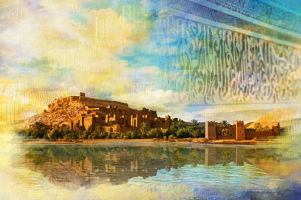 Medina Wall Art - Painting - Ait Benhaddou  by Catf