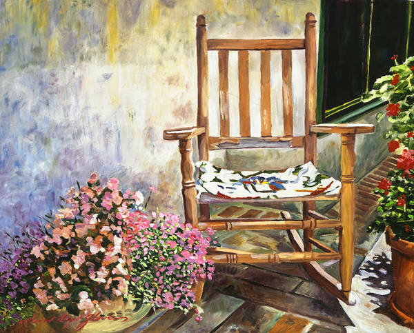 Painting - Aix Country Patio by David Lloyd Glover
