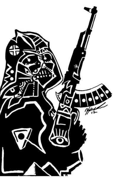Popstract Digital Art - Ak Vader by Kamoni Khem