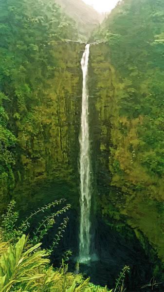 Big Island Digital Art - 'akaka Falls by Dale Jackson