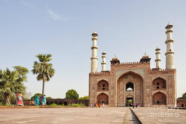Photograph - Akbar's Tomb In  India by Bryan Mullennix