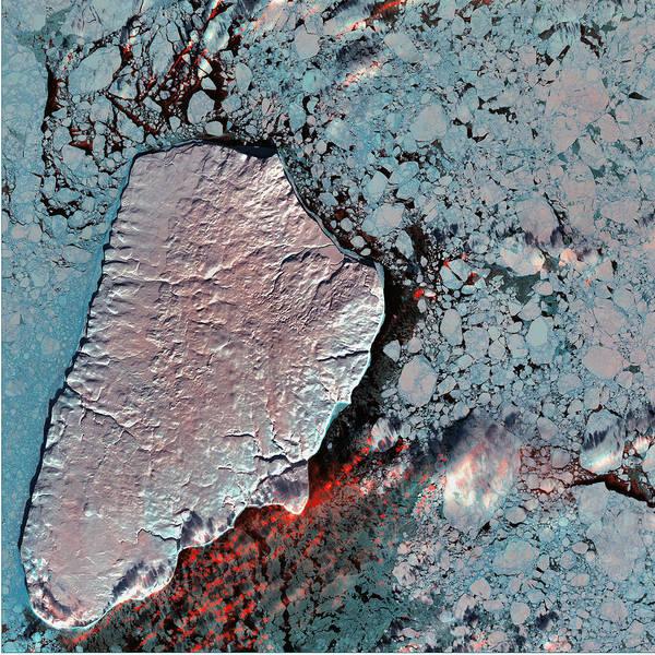 Photograph - Akpatok Island by USGS Landsat