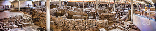 Archaic Photograph - Akrotiri Archaeological Site In Santorini by David Smith