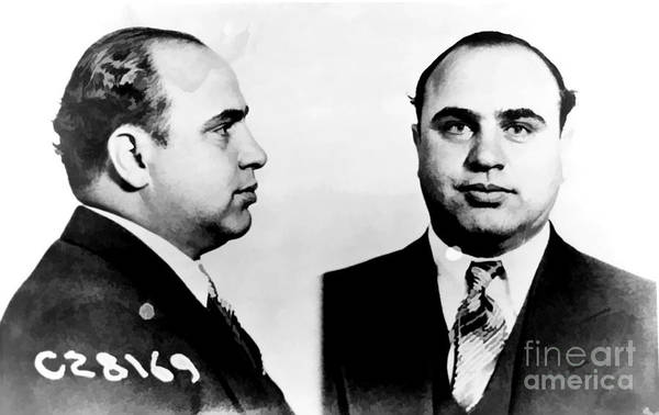 Mugshot Wall Art - Photograph - Al Capone Mug Shot by Edward Fielding