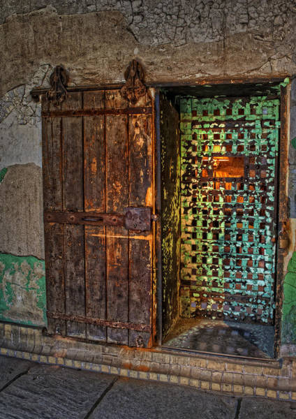 Dilapidation Wall Art - Photograph - Al Capones Cell Door by Susan Candelario