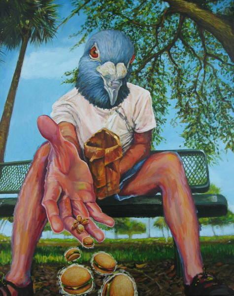 Birdman Painting - Al Fresco by Katharine Turk-Truman
